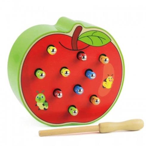 Магнитная рыбалка «Яблочко с червячками»