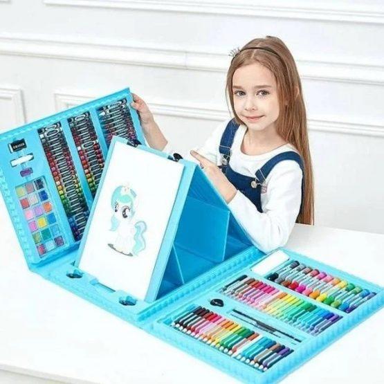 Чемоданчик для рисования с 208 предметами