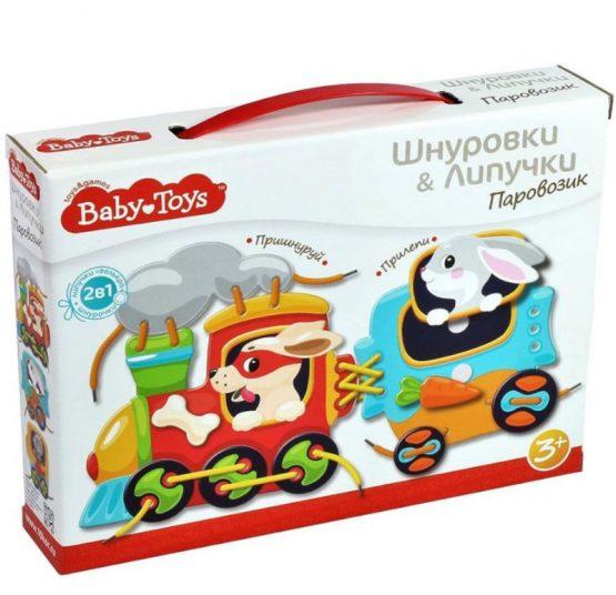 Baby toys «Паровозик» — шнуровки и липучки