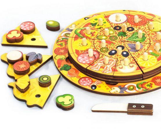 пицца развивающая деревянная