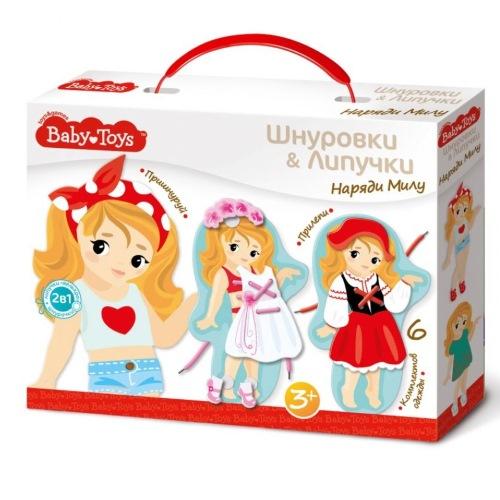 Baby toys «Наряди Милу» — шнуровки и липучки
