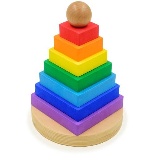 Пирамидка «Радужные квадратики»