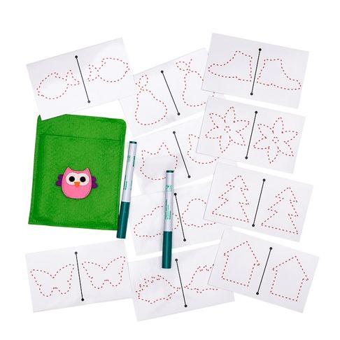 Многоразовые карточки для рисования двумя руками