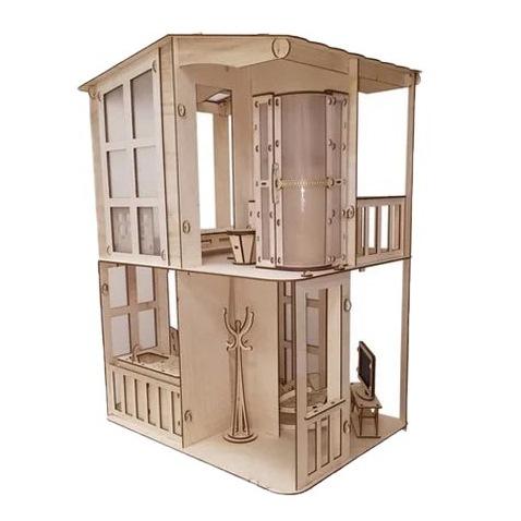 Большой кукольный домик Фантазия с мебелью